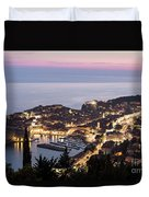 Sunset Over Dubrovnik In Croatia Duvet Cover