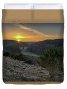 Sunset Over Forest Duvet Cover