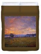 Sunset Over Gratwick Park Duvet Cover