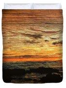 Sunset Over Hawaii Duvet Cover