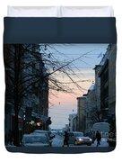Sunset Over Helsinki Duvet Cover