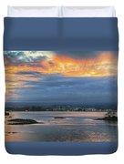 Sunset Over Hilo Duvet Cover