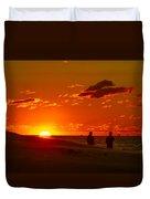 Sunset Over Indiana Dunes Duvet Cover