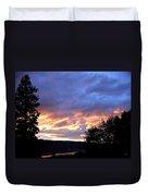 Sunset Over Kalamalka Duvet Cover