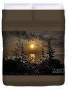 Sunrise Over Lake Huron Duvet Cover
