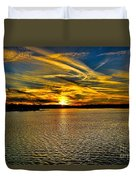 Sunset Over Lake Palestine Duvet Cover