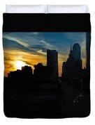 Sunset Over Main Street Duvet Cover