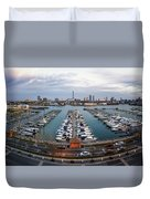 Sunset Over Marina Duvet Cover
