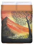 Sunset Over Mountains Duvet Cover