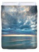 Sunset Over Naples Beach Duvet Cover