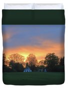 Sunset Over North Common Meadow Duvet Cover