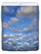 Sunset Over Omaha Nebraska Duvet Cover