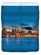 Sunset Over Philadelphia Duvet Cover