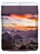 Sunset Over Rio De Janeiro  Duvet Cover