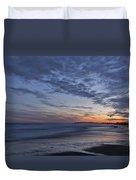 Sunset Over Rye New Hampshire Coastline Duvet Cover