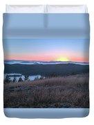 Sunset Over San Juan Islands Duvet Cover