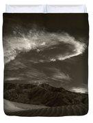 Sunset Over Sand Dunes Death Valley Duvet Cover