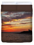 Sunset Over Sandy Neck Lighthouse Duvet Cover