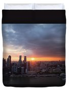 Sunset Over Singapore Duvet Cover