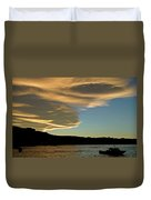 Sunset Over South Island Of New Zealand Duvet Cover