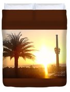Sunset Over St Augustine Florida Duvet Cover