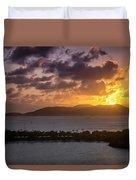 Sunset Over St. Thomas Duvet Cover