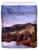 Sunset Over The American River Duvet Cover