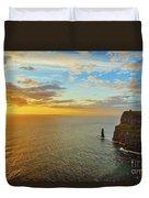 sunset over the Aran Islands Duvet Cover