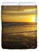 Sunset Over The Beach Duvet Cover