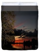 Sunset Over The Caloosahatchee Duvet Cover
