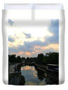 Sunset Over The Canal At Ladbroke Grove. Duvet Cover