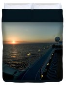 Sunset Over The Caribbean Sea As Seen Duvet Cover