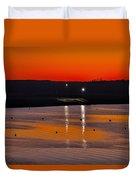 Sunset Over The Denison Dam Duvet Cover