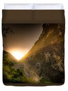 Sunset Over The Gorge Duvet Cover