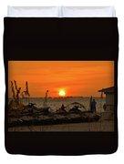 Sunset Over The Gulf 1 Duvet Cover