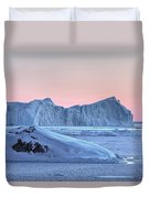 sunset over the Icefjord - Greenland Duvet Cover