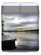 Sunset Over The Lake. Duvet Cover