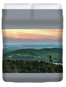 Sunset Over The Lakes Duvet Cover