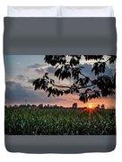 Sunset Over The Plains Duvet Cover