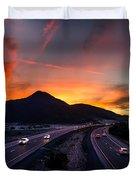 Sunset Over The Soda Mountains Duvet Cover