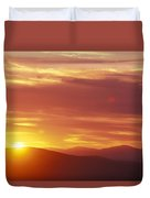 Sunset Over The White Mountains In New Duvet Cover