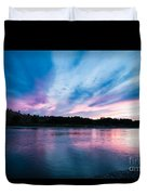 Sunset Over The Yellowstone Duvet Cover