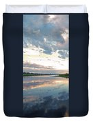 Sunset Over Union Bay Tall Panorama Duvet Cover