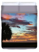 Sunset Palm Florida Duvet Cover