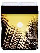 Sunset Palm Fronds Duvet Cover