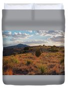 Sunset Panorama Of Blue Mountain At Davis Mountains State Park - Indian Lodge Trail Fort Davis Texas Duvet Cover