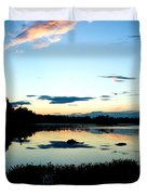 Sunset Pond Duvet Cover