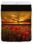 Sunset Poppies The Bbmf Duvet Cover