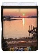 Sunset, Portland, Maine  -07817 Duvet Cover