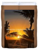 Sunset Quote Duvet Cover